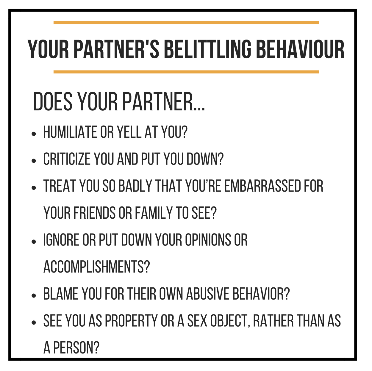 Belittling Behaviour