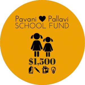 Pavani and Pallavi school fund